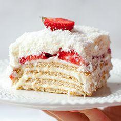 Ciasto Raffaello z truskawkami | Kwestia Smaku