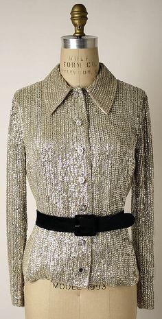 Evening Blouse, Valentino, ca. 1974, Italian, silk, glass, plastic and leather