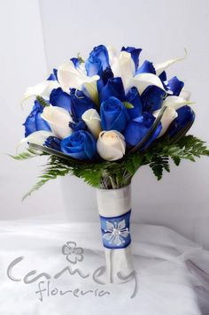 Prom Flowers, Blue Wedding Flowers, Bridal Flowers, Floral Wedding, Wedding Colors, Bridal Bouquet Blue, Bride Bouquets, Bridesmaid Bouquet, Blue Wedding Decorations