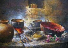 Imágenes Arte Pinturas: GALERÍA COCINAS OLEO