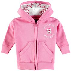 Houston Astros Soft as a Grape Newborn & Infant Embroidered Logo Full-Zip Hoodie - Pink - $23.99