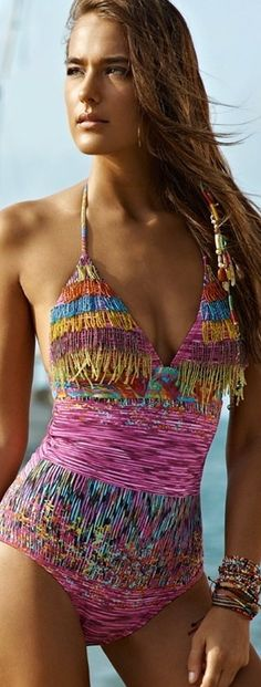 .This is exquisite swimwear , , , Doesn't show too much - just enough!