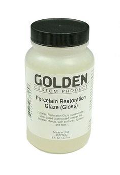 Golden Porcelain Restoration Glaze Gloss - 8oz at Guiry's Color Source