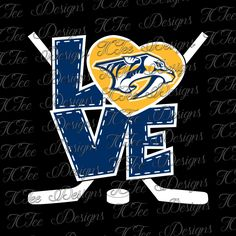 LVE Love Nashville Predators - Hockey SVG File - Vector Design Download - Cut File by TCTeeDesigns on Etsy