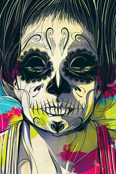 Inspiração: Caveira mexicana.   Overdose V.I.P