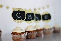 michael's gold cupcake decor - Bing Images