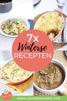 7x winterse recepten. Wat dacht je van een lekkere stamppot, stoofvlees of een jachtschotel met gehakt. Allemaal lekker van smaak en simpel te bereiden. Heerlijk comfort food voor in de winter, op een koude dag. Dutch Recipes, Easy Recipes, Winter Food, Food Menu, Quick Easy Meals, Real Food Recipes, Bbq, Good Food, Rice