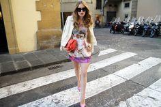 Lanvin jacket, Caterina Gatta skirt + top, Céline sunglasses, Proenza Schouler bag