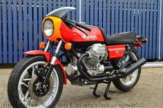 Red Moto Guzzi 850 Le Mans.The pictures are of the building process and the result.