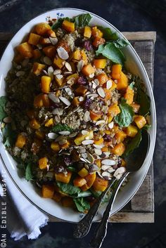 Sweet and Savory Quinoa Pilaf with Cranberries, Roasted Butternut, and Toasted Almonds {Giveaway}