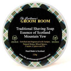 The Gentleman's Groom Room Traditional Shaving Soap Essence of Scotland, Mountain Yew