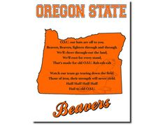 Oregon State Beavers Football College by PatriotIslandDesigns, $14.00