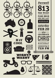 invitation. via design inspiration