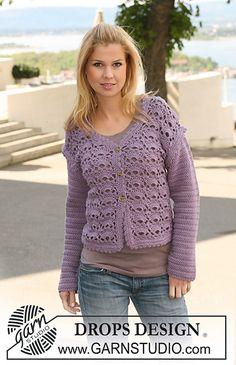 Ravelry: 126-17 Crochet jacket - free crochet  pattern by DROPS design [DK]