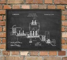 Stahl-Prozess 1919 Patent Print  Industrie Stahl von QuantumPrints