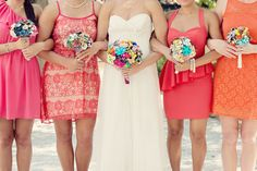 Eclectic and Vintage Coral and Mint Oklahoma Wedding 11 Bridesmaid Duties, Be My Bridesmaid, Wedding Bridesmaids, Wedding Gowns, Bridesmaid Dresses, Most Romantic Pics, Beach Wedding Colors, Wedding Flowers, Diy Vintage
