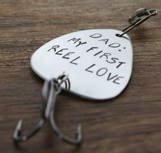Personalized Fishing Lure, My First Reel Love, Dad Gift, Dad Fishing Gift, Father of the Bride, Custom Fisherman Gift, Daddy Gift