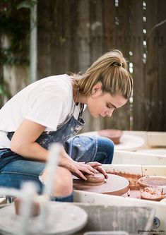 Made By Hand, Amanda Shine, The Setting, DIY, Creativity, Ceramics, Girl At The Wheel / Garance Doré