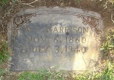 William Lenard Garrison - - Find A Grave Photos July 6th, Find A Grave, Family History, Photos, Pictures, Genealogy, Cake Smash Pictures