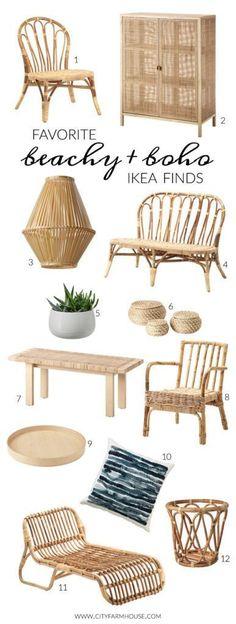 Favorite Beachy Boho Ikea Finds-City Farmhouse #home