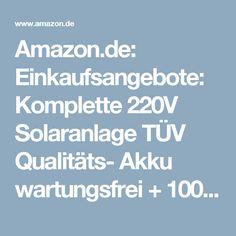 New Amazon de Einkaufsangebote Komplette V Solaranlage T V Qualit ts Akku wartungsfrei W