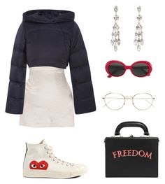 """""""#723"""" by babygyal09 ❤ liked on Polyvore featuring Elizabeth Roberts, Comme des Garçons, Isabel Marant, Bertoni, Yves Saint Laurent, RetroSuperFuture, gold, converse, frames and freedom"""