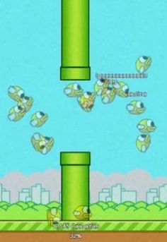 """If you thought Flappy Bird was frustrating, try playing it while 100 other user-controlled birds swarm around you, with names like """"Poop On You"""" and """"AAAAIIIIIIEEEE."""""""