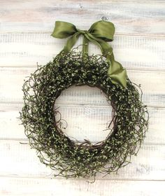 Rustic spring wreath
