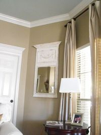 Wall color Relaxed Khaki by Sherwin Williams....this is the color of my kitchen and dining room. Love it