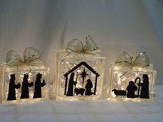 Nativity glass blocks