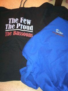 My new bassoon sweatshirts!!!!! I'm in love!!!!!!!