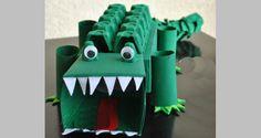Een krokodil maken waar je zelf leuk mee kunt spelen, maar die ook erg leuk is als #surprise voor #Sinterklaas!