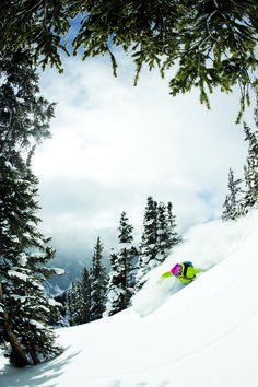 Aspen Highlands is a skier's hill, with blood-rushing steeps (nearly 50-degree, no-fall zones in hike-to Highland Bowl), yee-haw trees (Boomerang Woods and Steeplechase) and eye-watering groomers (Gunbarrel and Golden Horn) so deliciously pitched, some skiers wonder why no one's on them.