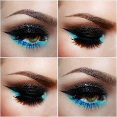 Eye make up Goth Makeup, Kiss Makeup, Makeup Dupes, Beauty Makeup, Face Makeup, Makeup Eyeshadow, Pretty Makeup, Makeup Looks, Bright Eye Makeup