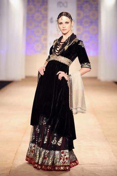 Black velvet Anju Modi.