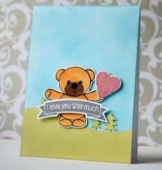 Hello everyone, Happy Sunday! I hope you enjoy your day today! Today is the last Teaser Day of Clearly Besotted's July Release! Wedding Shower Cards, Distress Ink, Love You So Much, My Way, Happy Sunday, Hello Everyone, Teaser, Bear Hugs, Card Making