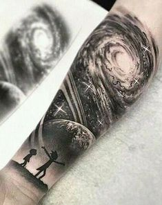 ▷▷ Tattoos for men 【Photos】, Forearm Cover Up Tattoos, Owl Forearm Tattoo, Forarm Tattoos, Cover Tattoo, Leg Tattoos, Body Art Tattoos, Tattoos For Guys, Galaxy Tattoo Sleeve, Space Tattoo Sleeve