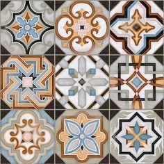 SAMPLE Victorian Central Patterned Ceramic Floor Tile (NOT FULL TILE) in Home, Furniture & DIY, DIY Materials, Flooring & Tiles   eBay