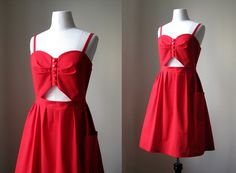 Love the cut out!  handmade summer cut out dress made to order by cristinapires, €80,00