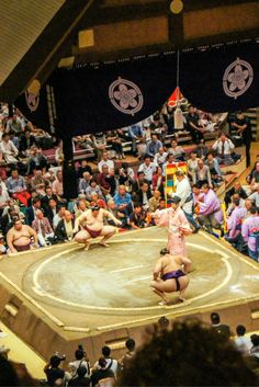 What to expect from a Sumo Wrestling Match at Ryogoku Stadium - For four minutes you can feel the tension build in the air. The salt is sprinkled, the feet are stamped and the intimidation is radiated. A four minute build up for a 10 seconds release, but what a release. The collision of power and weight coming together can be felt in the entire room and I love it. That's the sport of sumo wrestling for you.