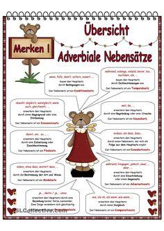 Adverbiale Nebensätze_Übersicht                                                                                                                                                                                 Mehr