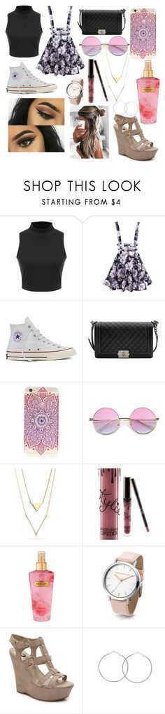"""""""Cutie"""" by leilamartinez7 on Polyvore featuring Converse, Chanel, Victoria's Secret and Floralskirts"""