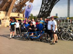 James and fellow cyclists that made the journey from London to Paris.