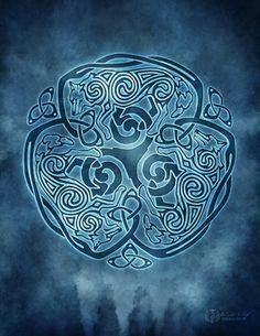 Celtic Wolf Knotwork  by Brigid Ashwood http://www.brigidashwood.com/celtic-wisdom/