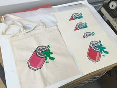 Pixel cans tote bag and prints