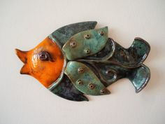 Wall fish ceramic wall art. Art fish. Pisces. Wall by ClayAna