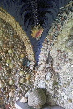 grotto Mosaic in shells by Candace Bahouth