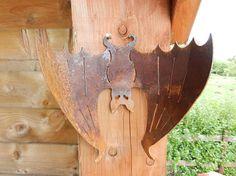 Halloween Bat Decoration / Rusty Metal Bat / Metal Bat Garden