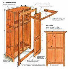 Woodworking Plans Building a Shaker-Style Wardrobe - Fine Woodworking Article Easy Woodworking Projects, Popular Woodworking, Woodworking Furniture, Fine Woodworking, Sketchup Woodworking, Youtube Woodworking, Woodworking Basics, Woodworking Machinery, Furniture Projects