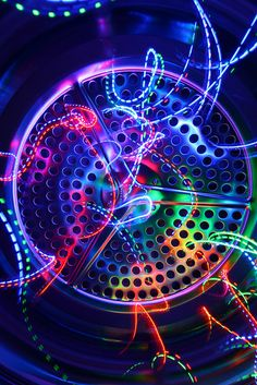 Psychonautic tumble drier  Straight out of the camera shot of LEDs inside the clothes dryer.  yay this is amazing *-* i must try it :O